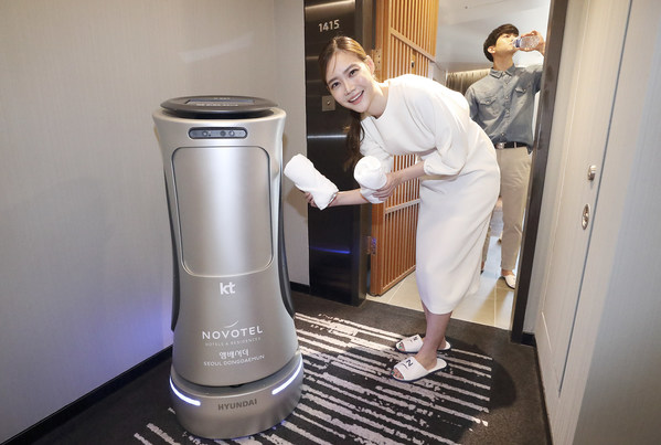 KT's 2nd Generation AI Hotel Robot Enhances Room Services