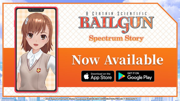 Smartphone Application Railgun: Spectrum Story Now Available