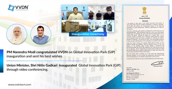 Nitin Gadkari Inaugurates VVDN's Global Innovation Park (Technology Innovation, Engineering and Manufacturing Hub) at Manesar in India; PM Narendra Modi Sent his Best Wishes