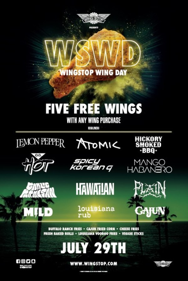 Wingstop Gives Fans the Summer Festival Experience They Crave with Wingstop Wing Day