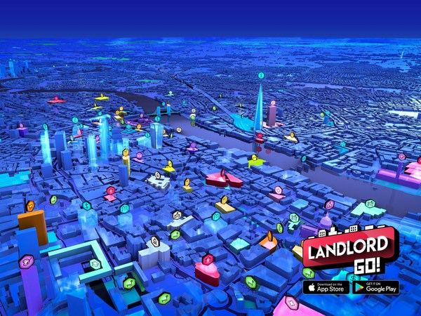 London 3D map view from game.
