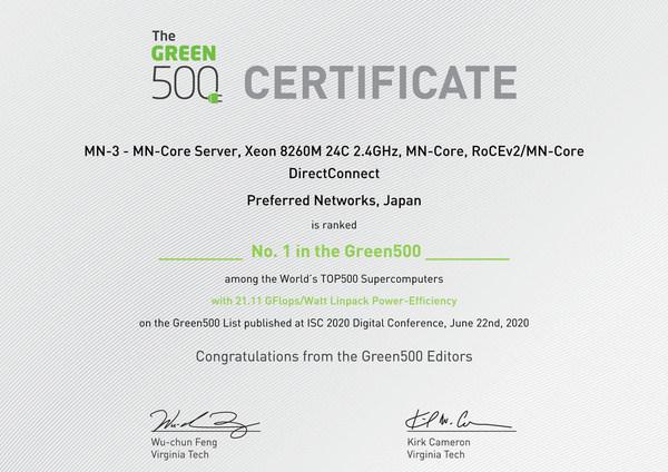 Green500世界1位 - SupermicroとPreferred Networks (PFN) が、世界で最も高効率なスーパーコンピューターを開発で協力