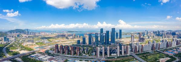 A panoramic view of Qianhai.