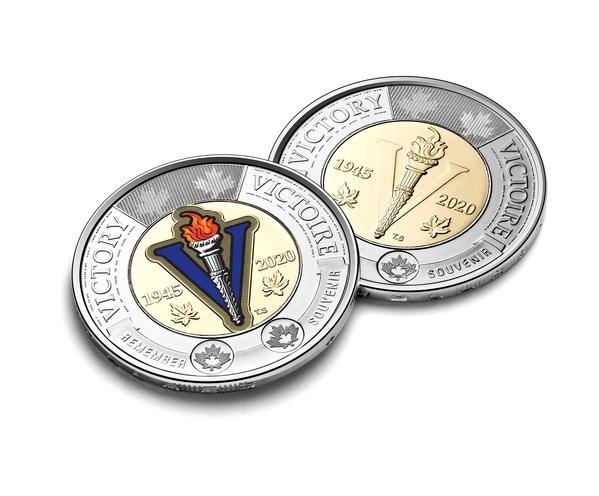 カナダ造幣局の2ドル流通コインは第2次世界大戦終結の連合軍勝利75周年を祝福