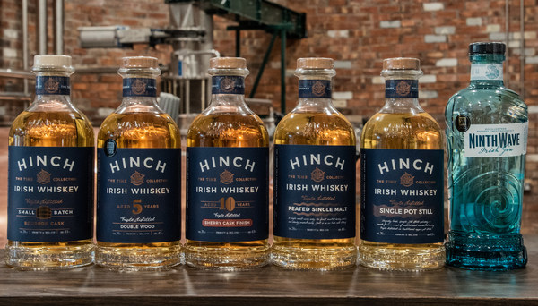 Hinch Distillery announces partnerships with new distributors, Chopin in US and Brandwerk in Taiwan, and wins a globally recognised Trophy at the China Wine and Spirit Awards. Ninth Wave Irish gin was awarded Double Gold and 'Gin of the Year', the distillery's first-ever Trophy win. It also received three CWSA awards for its Irish whiskey range: Double Gold for Hinch 10 Year Old Sherry Finish, Gold for Hinch 5 Year Old Double Wood and Silver for Hinch Peated Single Malt.