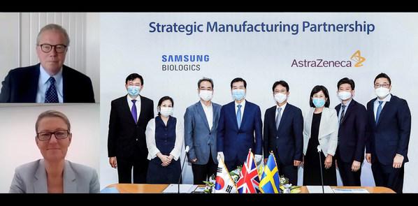 Strategic Manufacturing Partnership Ceremony between AstraZeneca and Samsung Biologics