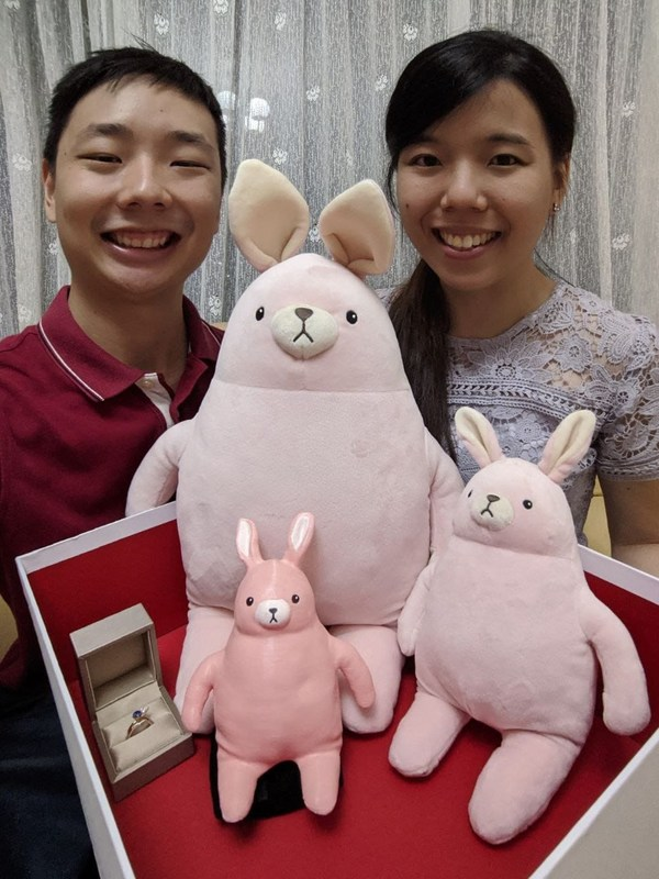 Gnin and Rachel with MINISO Bunny