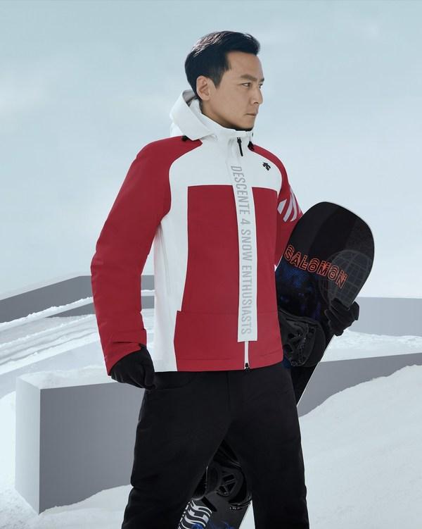 吴彦祖演绎首发单板滑雪服