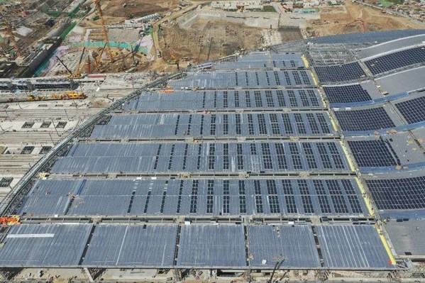 Asia's Largest Railway Station Uses Yingli's High-Efficiency Solar Products