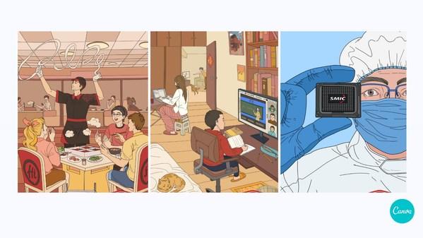 《财富》中国500强上榜公司插画