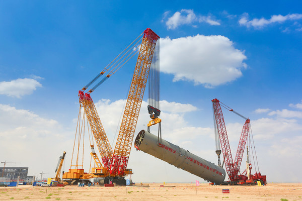 XCMG and Sinopec Co-developed XGC 88000 Working on One of Ningxia Coal Industry Sites.