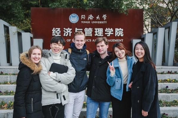 Tongji SEM의 경영학 석사 프로그램을 진행 중인 학생들