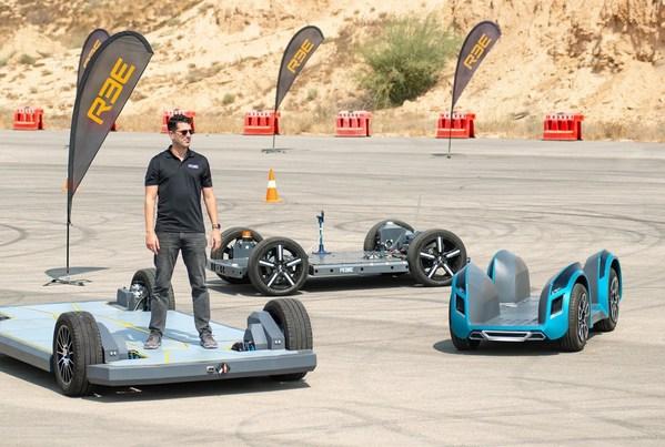 REEオートモーティブ 完全にモジュラー式な 次世代EVプラットフォーム3種で走行開始