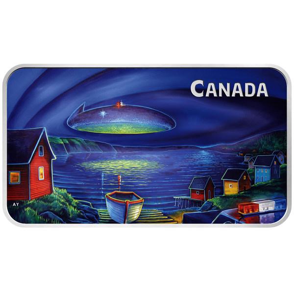 Pemandangan UFO Bersinar yang Diperhatikan di Langit Clarenville, Newfoundland dan Labrador Diabadikan pada Duit Syiling Koleksi Khas New Royal Canadian Mint