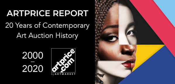 Artmarket.com publishes the new Artprice's Report on the Contemporary Art Market, the primary growth driver with a +2,100% increase over 20 years