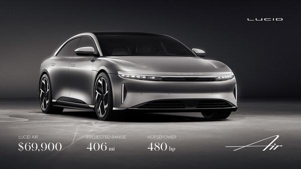 Lucid Motorsが航続距離406マイル、480馬力の最も入手しやすい高級EVラインアップを拡大-価格は僅か6万9900ドルから