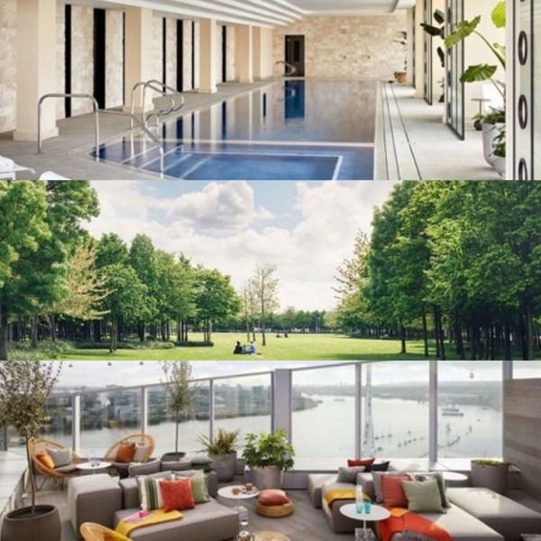 高空露台与泳池,尽享泰晤士河景,项目配有私人管家协助处理生活琐事。