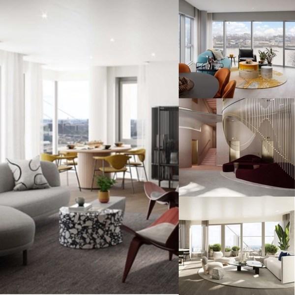 内饰与设计,灵感取自泰晤士河面的温暖色调;室内空间广阔,一览壮阔泰晤士河景。