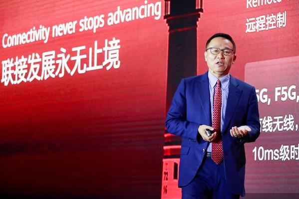 Pengarah Eksekutif Huawei David Wang melancarkan penyelesaian ketersambungan cerdas semua senario