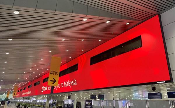 艾比森巨型屏幕亮相马来西亚吉隆坡国际机场