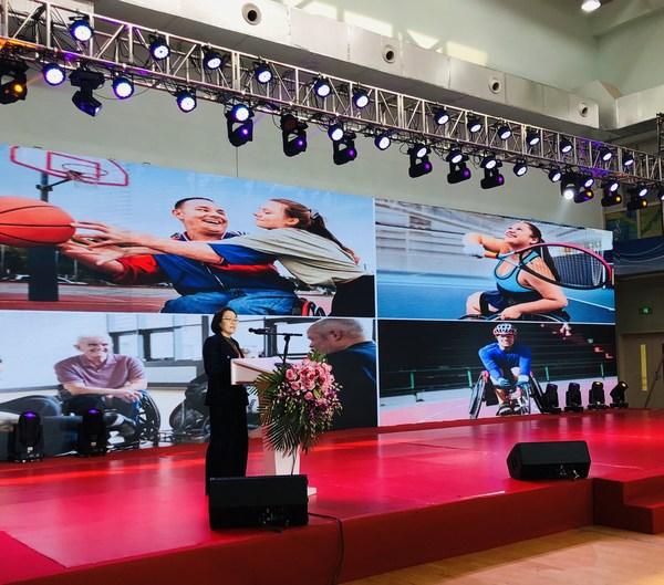 康乐保中国失禁护理部负责人王莉在大会上发言