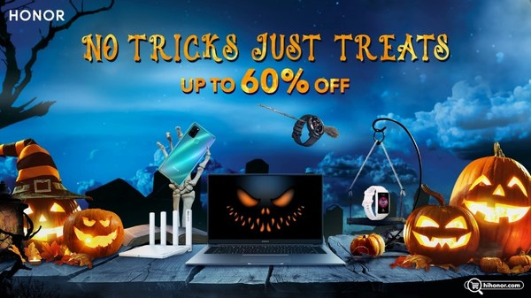 "HONOR Halloween 2020 Offers Special Deals for Trending Products with ""No Tricks, Just Treats"""