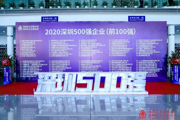 """""""2020深圳500强企业""""诞生 蓝凌荣耀上榜"""