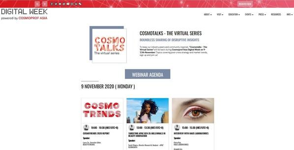 CosmoTalks網絡研討會將安排20多個網上研討會,由專家主講,每天有特定主題。