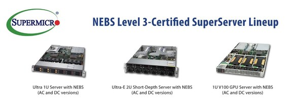 Supermicro 2U Ultra-E Short-Depth Server -- Now with NEBS Level 3-Certification -- Delivers Data Center Computational Power to the Telecom Edge