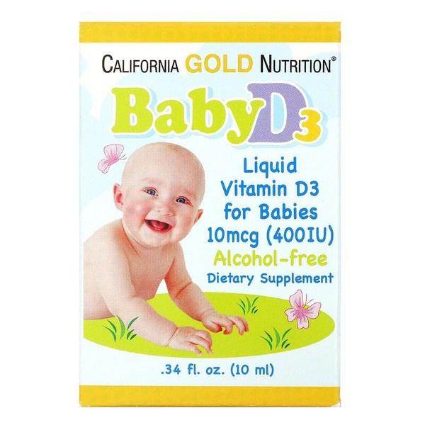 California Gold Nutrition, 嬰兒維生素 D3 滴劑