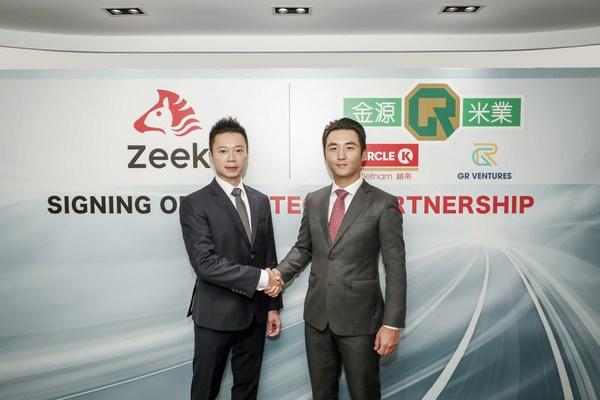 (左起)今日,Zeek策略總監范俊彥與GR Ventures執行董事林世晞簽署策略性合作夥伴協議。