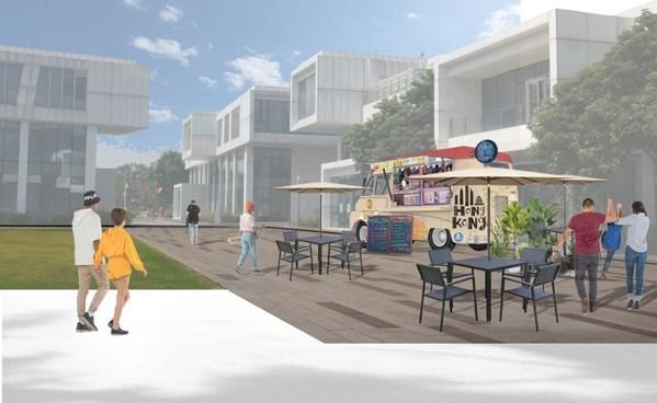 BEEPLUS为梦工场设计的创意街道概念图