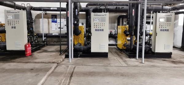 格兰富目前最大规模的预制化智能换热泵组系统投入运行 助力清洁取暖