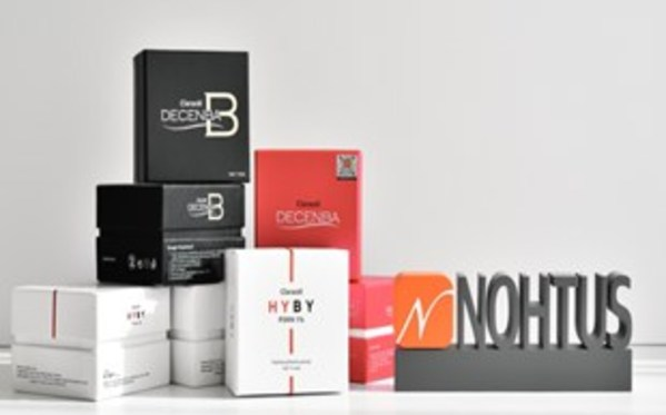 "Premium Meso Solution by NOHTUS ""HYBY"" of pure PDRN 1%, ""DECENBA"" for lipolysis,  ""Myc1ear"" for whitening"