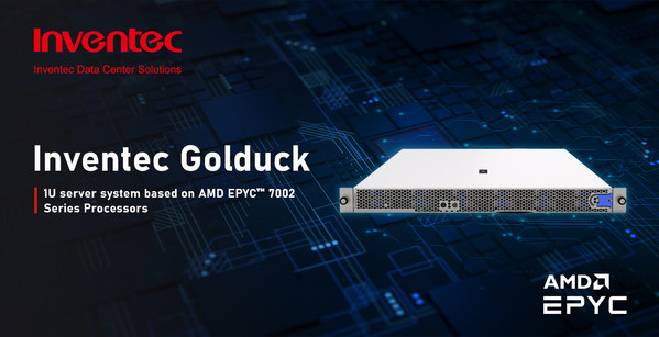 Inventec Introduces Golduck, a 1U High Performance Server For Hyperconverged Infrastructure
