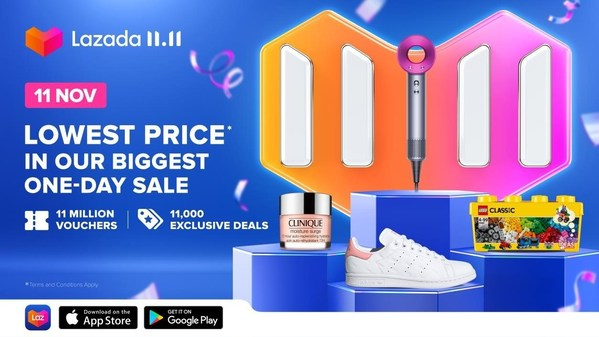 More than 350,000 brands and sellers to join Lazada's 11.11 Shopping Festival