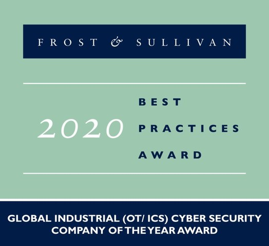 2020 Global Industrial (OT/ ICS) Cyber Security Company of the Year Award