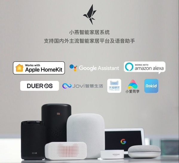 小燕智能产品支持国内外主流智能家居平台及智能语音控制,包括:Apple HomeKit、Google Home、Amazon Alexa、百度DuerOs、阿里云loT、OPPO HeyThings、vivo Jovi智慧生活等。