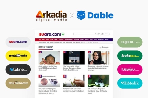 Dable Partners with Arkadia Digital Media to provide Personalized Content Recommendation