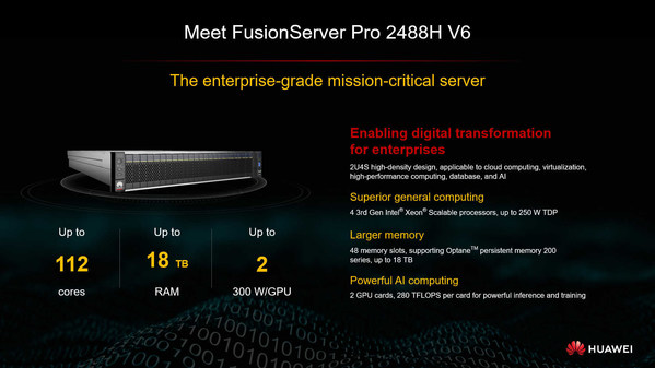 Huawei FusionServer Proインテリジェントサーバーは成功を共有するための完璧なパートナー