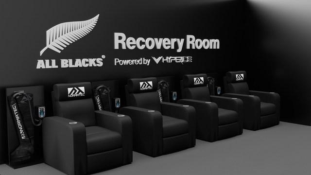 Hyperice x All Blacks Recovery Room