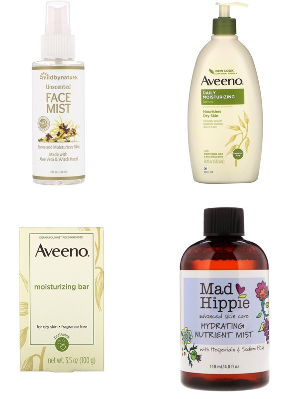 personal care & beauty care series: Mild By Nature, Aveeno, Mad Hippie