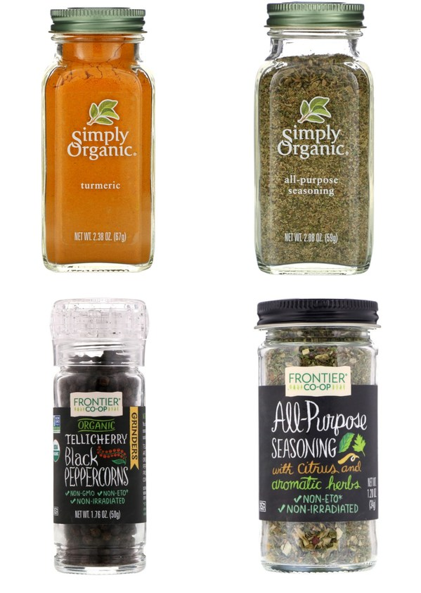 food & seasoning series: Simply Organic, Frontier Natural Products