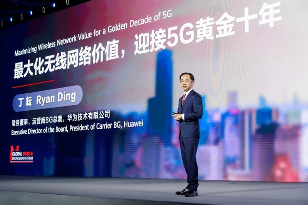 Huawei's Ryan Ding: Maximizing Wireless Network Value for a Golden Decade of 5G