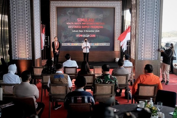 Supported by 23 Ministries and Institutions, the Ministry of Tourism and Creative Economy Holds 3K Protocol Simulation for National Tourism Destinations