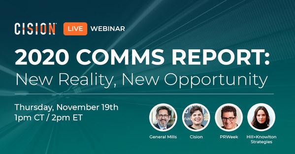 Hội thảo trực tuyến về Báo cáo truyền thông 2020 của Cision và PRWeek