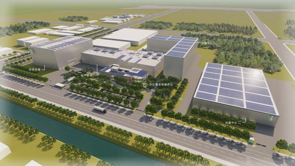 星巴克中国咖啡创新产业园鸟瞰效果图