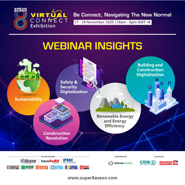 Valuable insights will be shared throughout the three-day event including on building and construction digitalisation, renewable energy and energy efficiency, safety and security digitalisation, sustainability and many more