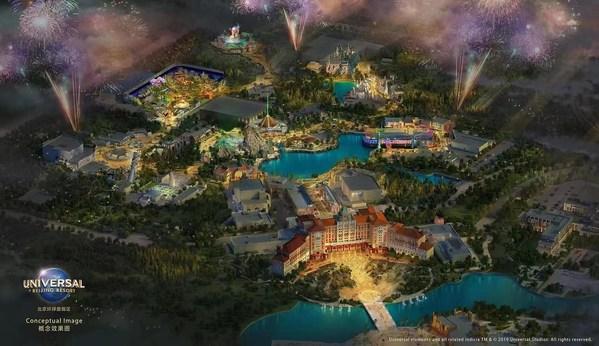 北京环球度假区俯瞰图