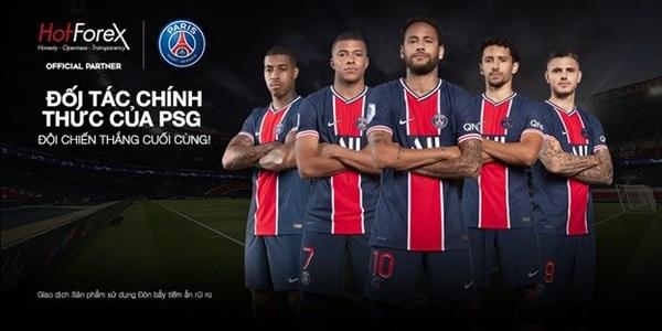 HotForex trở thành đối tác chính thức của Paris Saint-Germain